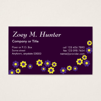 Zoey in Flores Purple Business Card