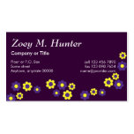 Zoey in Flores Purple Business Card Template