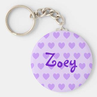 Zoey in Purple Keychain