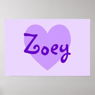 Zoey in Purple print