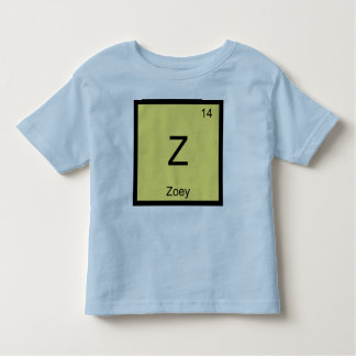 Zoey Name Chemistry Element Periodic Table Toddler T-shirt