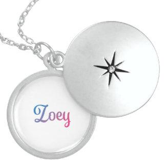 Zoey Stylish Cursive Sterling Silver Necklace