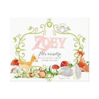 Zoey Top 100 Baby Names Girls Newborn Nursery Gallery Wrap Canvas