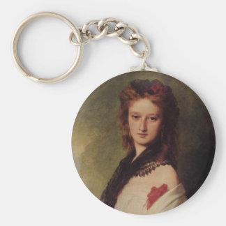 Zofia Potocka Countess Zamoyska Basic Round Button Keychain