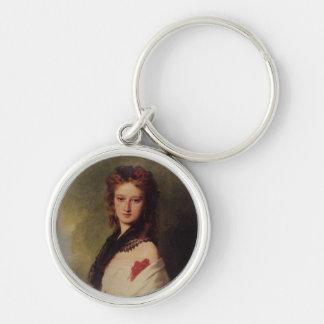 Zofia Potocka Countess Zamoyska Silver-Colored Round Keychain