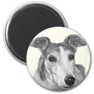 Zoie, Greyhound 2 Inch Round Magnet