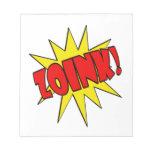 ¡Zoink!  Dibujo animado SFX Bloc De Notas