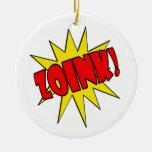 ¡Zoink!  Dibujo animado SFX Ornamento Para Arbol De Navidad