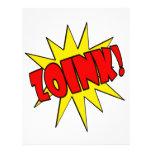 ¡Zoink!  Dibujo animado SFX Plantillas De Membrete