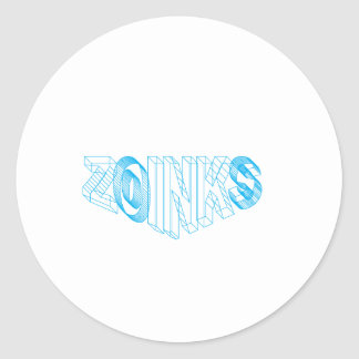 zoinks classic round sticker