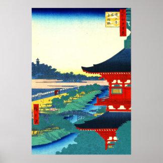 Zojoji Pagoda and Akabane 1857 Poster