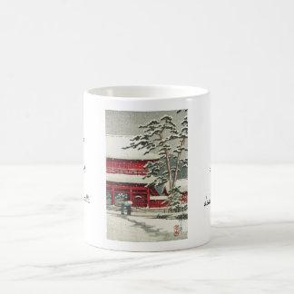 Zojoji Temple Hasui Kawase shin hanga scenery art Classic White Coffee Mug
