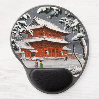 Zojoji Temple in Snow Tsuchiya Koitsu winter scene Gel Mouse Pad