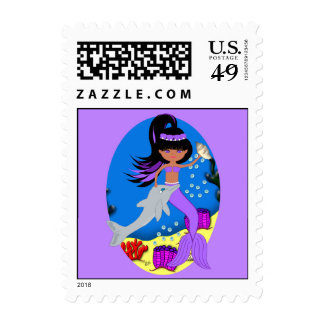 Zola the Mermaid and Dolphin Postage