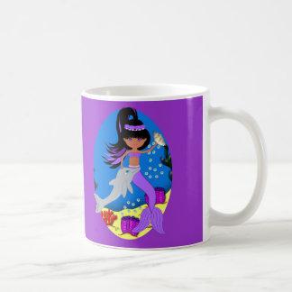 Zola the Purple Mermaid with Dolphin Mug
