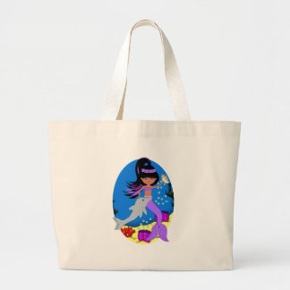 Zola the Purple Mermaid with Dolphin Tote Bag