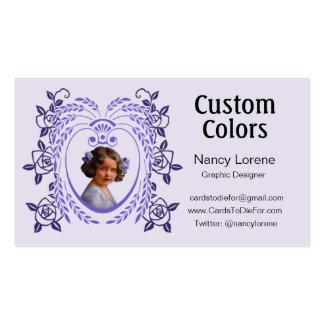 Zollie en púrpura tarjetas de visita