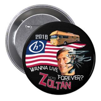 Zoltan Istvan for President 2016 Pinback Button