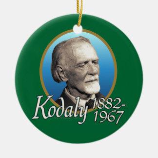 Zoltan Kodaly Christmas Ornament