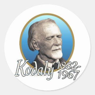 Zoltan Kodaly Round Stickers