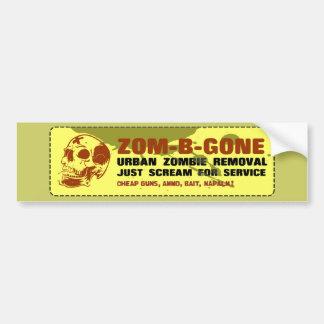 Zom-B-Gone Urban Zombie Removal Bumper Stickers