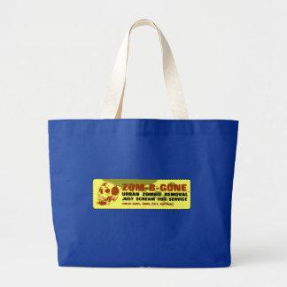 Zom-B-Gone Urban Zombie Removal Jumbo Tote Bag
