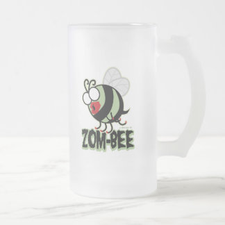 Zom-Bee Frosted Glass Beer Mug