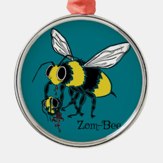 Zom-bee Metal Ornament