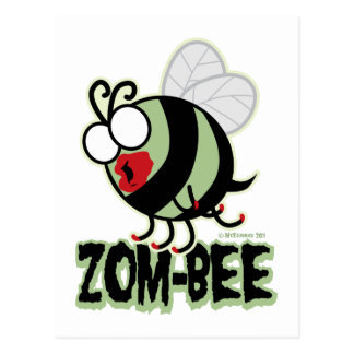 Zom-Bee Postcard