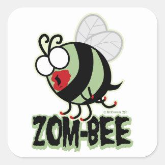 Zom-Bee Square Sticker
