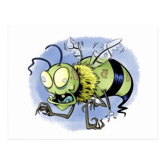 Zom-bee ( Zombie Bee ) Post Cards