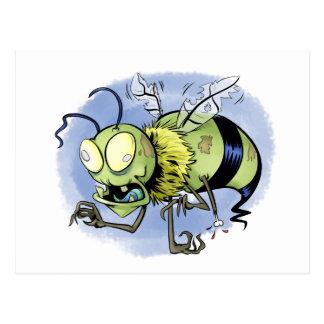 Zom-bee ( Zombie Bee ) Postcard