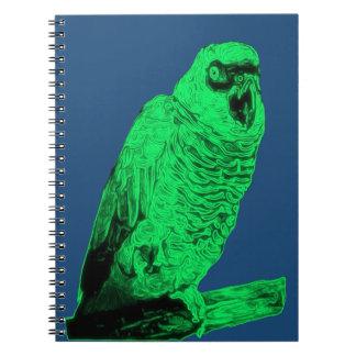 Zom-P Parrot Design Spiral Notebook