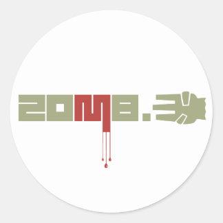 ZOMB.3 Logo Round Stickers