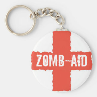 Zomb-AID Basic Round Button Keychain