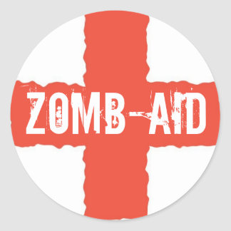 Zomb-AID Round Sticker