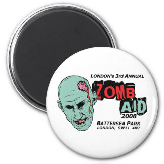 Zomb Aid Zombies 2 Inch Round Magnet