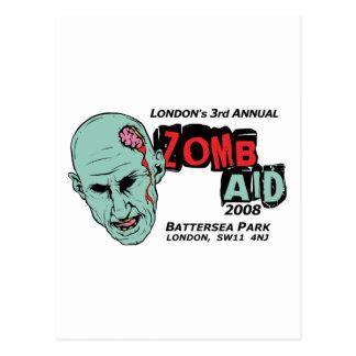 Zomb Aid Zombies Postcard