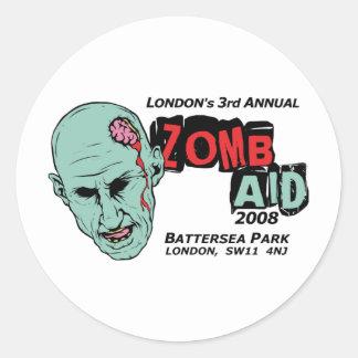 Zomb Aid Zombies Round Sticker