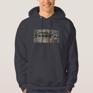 Zomb-Eh? Leaf Design Hooded Pullover