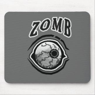 Zomb - Eye Ball! Black & White Mouse Pad