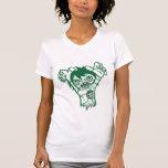 zomb green outline shirt