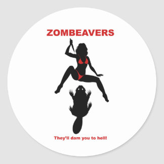 ZOMBEAVERS sticker