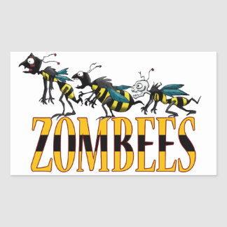 ZOMBEES RECTANGLE STICKERS