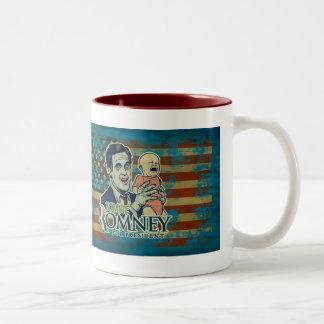 Zombey Romney para presidente Mug Taza De Dos Tonos