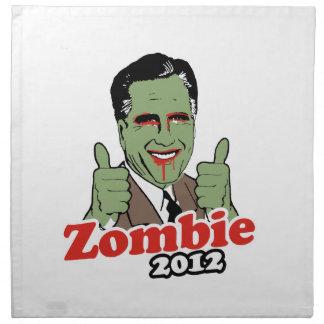Zombi 2012.png de Romney Servilletas Imprimidas