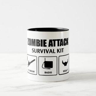 Zombi Attack Survival Equipo Taza Dos Tonos