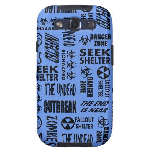 Zombi, brote, negro de los Undead y azul del Cornf Galaxy S3 Carcasa