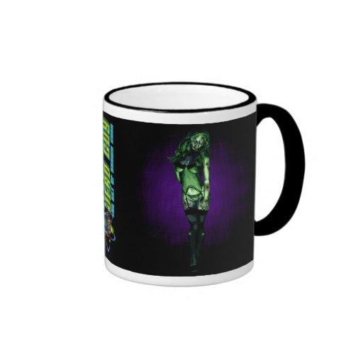 Zombi caliente taza de café