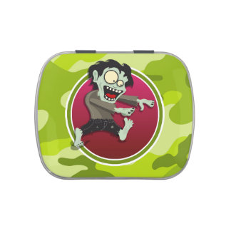 Zombi; camo verde claro, camuflaje jarrones de dulces